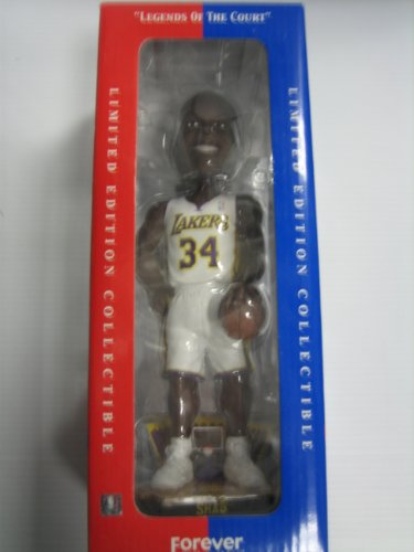 Officially Licensed Handcrafted NBA Los Angeles Lakers Shaquille ONeal Limited Edition Bobblehead by Forever Collectibles