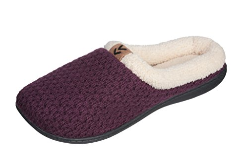 """Beverly Rock Womens """"Sweater"""" Faux Fleece Lined Clog Slippers"""