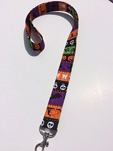 Halloween Lanyard Keychain Key Keeper ID Badge Holder Novelty Halloween Ghosts Pumpkins