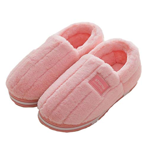 (GenePe Women Men Winter Slippers Cute Soft Flat Bottom Indoor Shoes Couple Plush Warm Home Slippers)