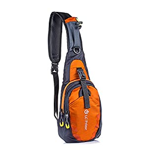 LC Prime® Sling Bag Chest Shoulder Unbalance Gym Fanny Backpack Sack Satchel Outdoor Bike nylon fabric orange 1