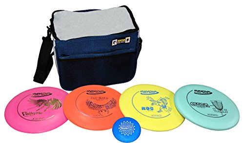 Innova Beginner's Disc Golf Set with 4 Innova Discs and Innova Starter Disc Golf Bag (Blue)
