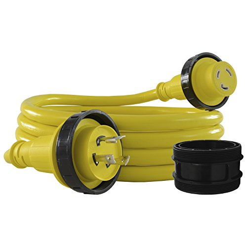 Conntek 17105-050RE Marine Shore Power 30 Amp Cordset with Light Indicator (Yellow, 50-Feet) ()