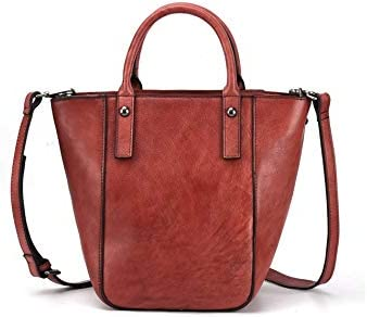 Color : Red, Size : 1825.514cm Douhuayu Ladies New Tree high Leather Hand-Painted Retro Painted Color Single Shoulder Diagonal Casual Bag