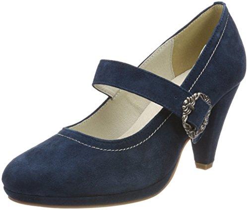 Bleu Fermé Bout Escarpins Dunkelblau 3005717 017 Femme Hirschkogel qTU4XtX