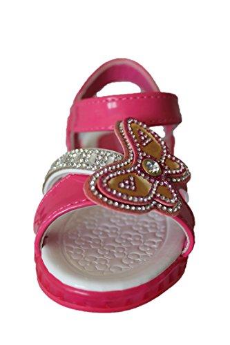 baomeex-sandales lumineuses-rose-fille