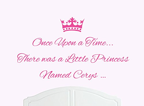 Once upon a time there was a little princess named cerys large wall sticker decal