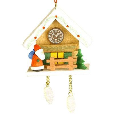 10-0469 - Christian Ulbricht Ornament - Santa with Brown Cuckoo - 2.5''''H x 2.75''''W x 1.75''''D