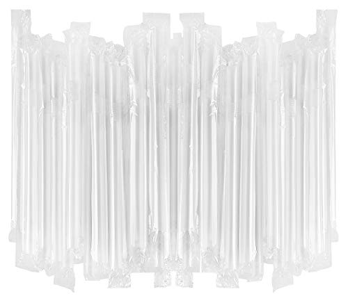 Extra Large Flexible Milkshake Straws - Individually Wrapped (Clear, 100) (Flex Straws Jumbo)