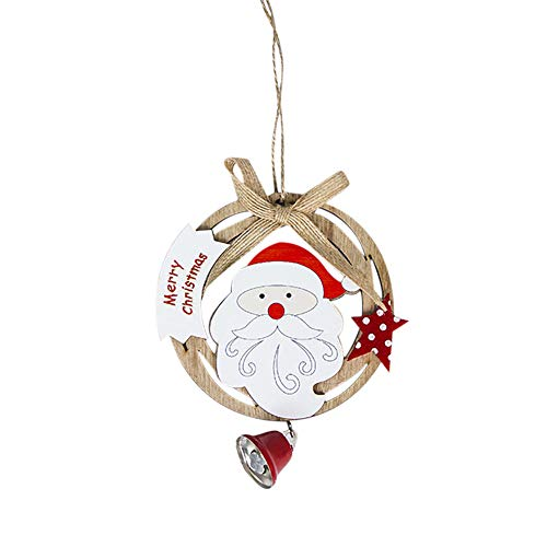 Colorzonesd Cute Santa Clause Bow Bell Christmas