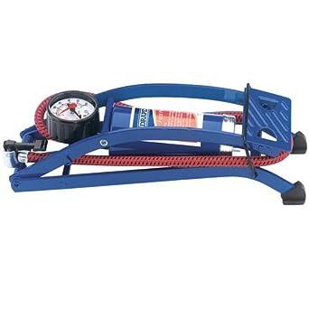 Draper 14172 Single Cylinder Foot Pump With Pressure Gauge