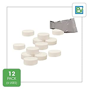 Descaling Tablets (12 Count / 6 Uses) For Jura, Miele, Bosch, Tassimo Espresso Machines and Miele Steam Ovens by Essential Values by Essential Values
