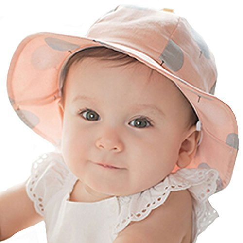 c2067fec Millya Infant Toddler Brimed Sun Hat 50+ UPF with Chin Strap (M: 9m