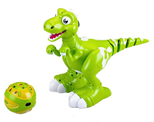 Bo Toys Remote Control Interactive Dinosaur , Dancing, Music ,Mist breathing out of his mouth, Auto demo ,