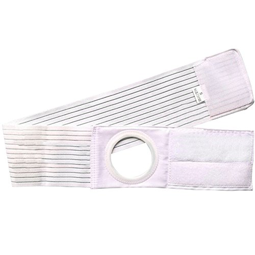 Ibnotuiy Ostomy Support Belt Hernia Abdominal Binder Stoma Band for Colostomy Patients Prevent Parastomal Hernia 2.36 inch Hole (M)
