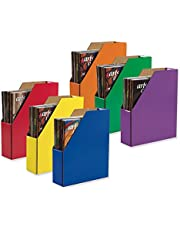 """Classroom Keepers Magazine Holders, Assorted Colors, 12-3/8""""H x 3-1/8""""W x 10-1/4""""D, 6 Pieces"""