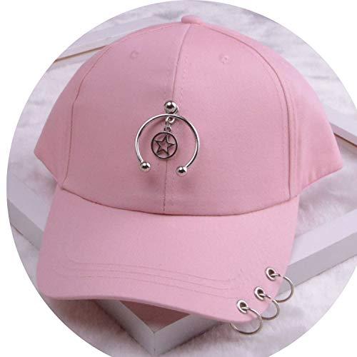 女性 リング野球帽 男性女性 白黒 野球の帽子,リトルスターピンク