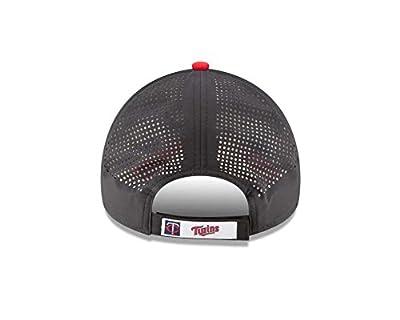 New Era MLB Men's Perf Pivot Minnesota Twins Baseball Hat Cap Black 80448404