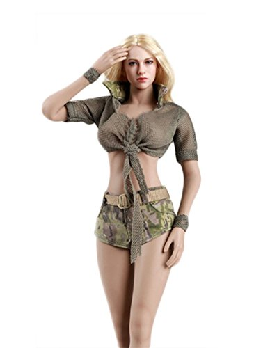 Phicen 1/6 Female Outfit Costume Cool Camouflage Clothing Suit (Army -