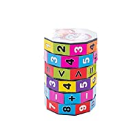 Buoyee New Intelligence Toy Mathematics Numbers Magic Cube Toy Puzzle Game Jigsaw Assembling Toy Educational Toys Gift for Kids Teens Adults