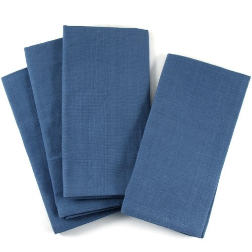 UPC 029441041076, Slate Blue 100% Cotton Dinner Napkins, Set of 12