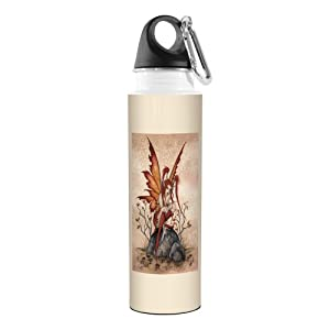 Tree-Free Greetings VB47549 Amy Brown Fantasy Artful Traveler Stainless Water Bottle, 18-Ounce, Little Red Mischief Fairy
