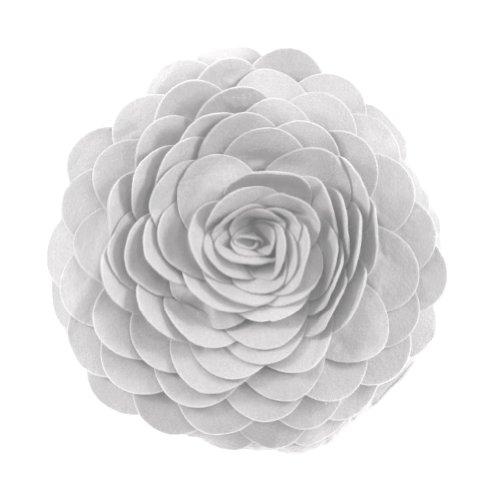Flower Decorative Pillow (Eva's Flower Garden Decorative Throw Pillow With Insert - 13 inch Round)