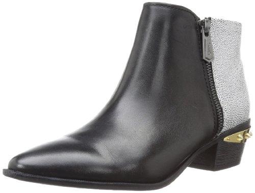 Sam Edelman Holt - Botas de Piel para mujer Black Blk Wht, color Negro, talla 38,5 EU (M)