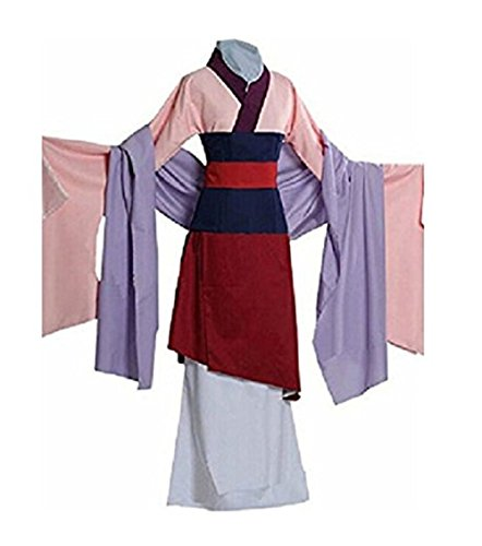 Peachi Adult Heroine Hua Mulan Dress Halloween Costume Cosplay Party S-XL (XL) -