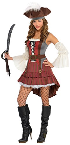 Womens Castaway Pirate Costume Size Medium (Pirates Costume For Ladies)
