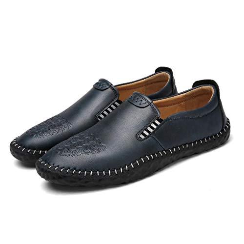 Hombre de Zapatos de conducción Carrera y Oficina Lazy Zapatos Casual Slip Fiesta Comfort de Noche Leathe y Moda UN Shoes Mocasines Spring Respirables Casual Fashion Fall y Ons 5aZwUa6q