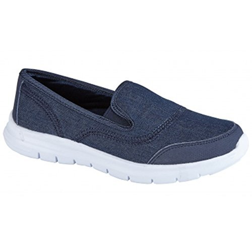 Para Mujer Zapatillas ZAFIRO Sin Cómodo Gimnasio Vaqueros Cordones Zapatos BOUTIQUE Deporte Ligero Andar Plano zapatillas 5RfxwYxPpq