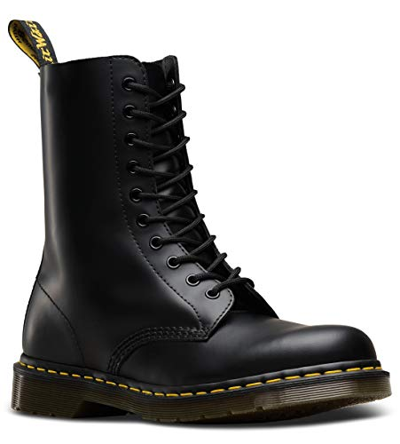 Dr. Martens Original 10 Eye Boot,Black Smooth,5 UK (US Men's 6 M/Women's 7 M)