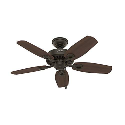 Hunter 52107 Builder Small Room 42-Inch New Bronze Ceiling Fan with Five Brazilian Cherry/Harvest Mahogany Blades and a Light Kit by Hunter Fan Company (Image #3)