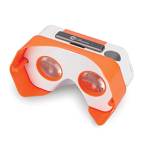 Newly Improved DSCVR Virtual Reality Viewer for iPhones and Android smartphones - Inspired by Google Cardboard 2.0 - Google WWGC certified VR viewer (Orange) by I AM CARDBOARD®