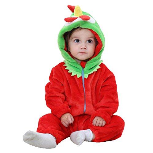 Unisex-baby Romper Animal Onesie Costume Cartoon Outfit Homewear -