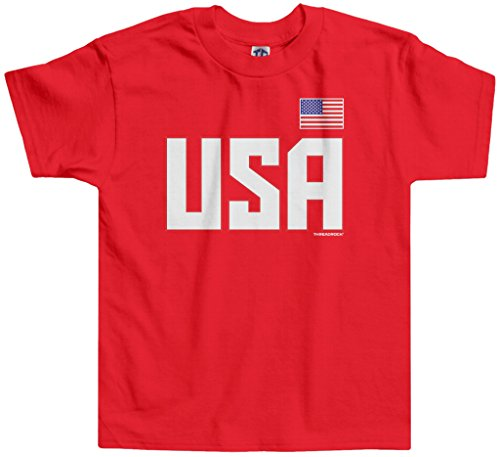 Threadrock Little Boys' USA National Pride Toddler T-Shirt 3T - Usa Kids For