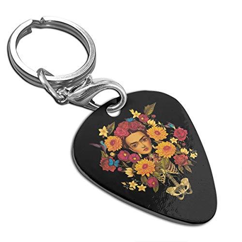 (Frida AKahlo Guitar Pick Pendant Necklace Keychain)