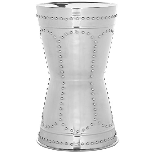 Mirrored Table Round - Safavieh Home Collection Sedona Silver End Table