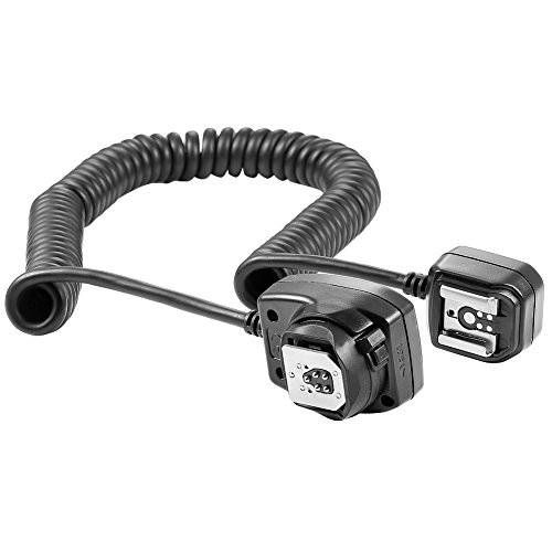 Neewer 9.8 feet/3 m E-TTL E-TTL II Off Camera Flash Speedlite Cord for Canon EOS 5D Mark II III,6D,5D,7D,60D,50D,40D,30D,300D, 100D,350D,400D,450D,500D,550D,600D,650D,700D,1000D,1100D