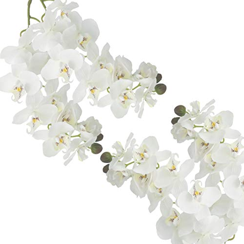 White Orchid Bouquets - cn-Knight Tropical Artificial Flower 4pcs 28