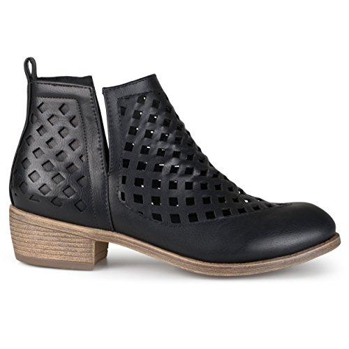 Brinley Co Women's Karma Ankle Boot, Black, 8 Regular US