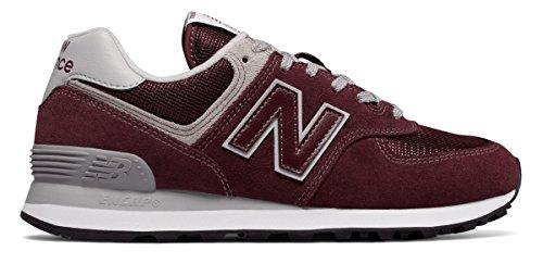 (ニューバランス) New Balance 靴?シューズ レディースライフスタイル 574 Burgundy with White バーガンディ ホワイト US 5.5 (22.5cm)