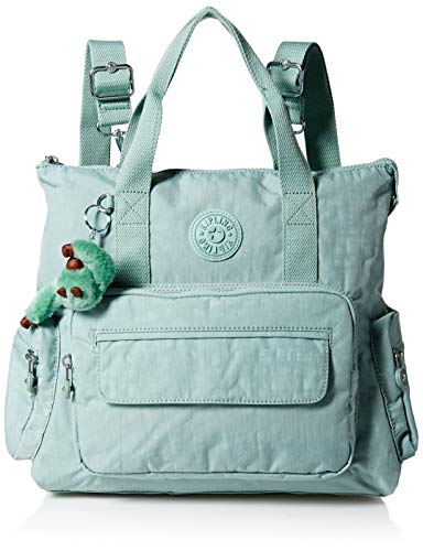 Kipling Women's Alvy 2-in-1 Convertible Tote Bag Backpack, Wear 2 Ways, Zip Closure, Fern Green Tonal