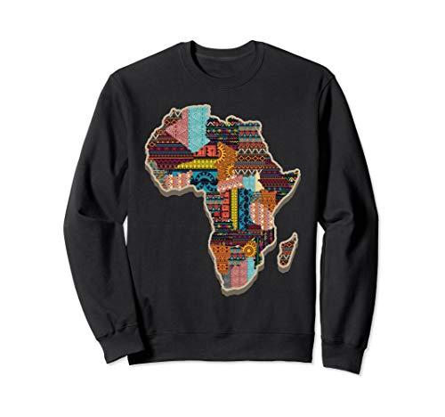 Black History African Tribal Pattern Sweatshirt