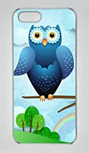 Blue Owl Iphone 5 5S Hard Shell with Transparent Edges Cover Case by Lilyshouse by runtopwell