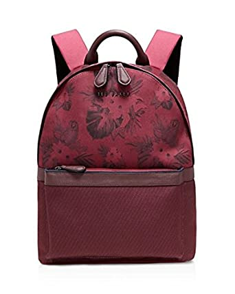 34281aefe236a TED BAKER Backpack Braver Oxblood Red Tropical Printed RRP £99   Amazon.co.uk  Clothing