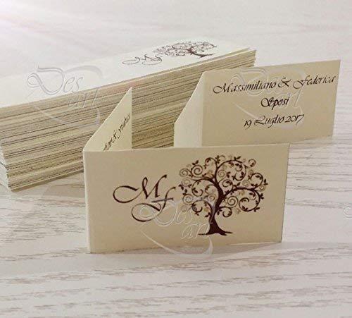 Matrimonio Tema Albero : Bigliettini tag matrimonio tema albero set composto da pz