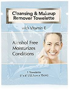 LARGE CLEANSING & MAKEUP REMOVER WIPES (45) INDIVIDUALLY SEALED WITH VITAMIN E by Diamond