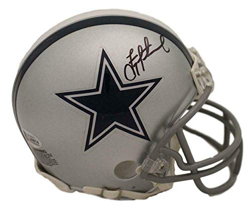 Troy Aikman Signed Helmet - Troy Aikman Autographed/Signed Dallas Cowboys Mini Helmet BAS